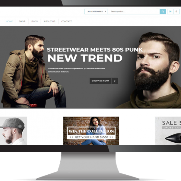 CMS Website Design & Development Portfolio For Fashion Ecommerce storefh 600x600